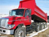 2005 I-H 7500 tri axle dump. Mileage is 80,000 actual.