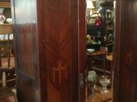 Antique Armoire Red Mahogany. Circa 1930's. Wouldn't