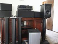 Great home theater system with all pieces and parts