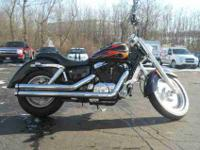2007 HONDA SHADOW SABRE, Black with Flames,
