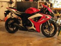 2007 Suzuki GSX-R 600 with less than 4,400 miles.