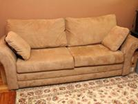 I have five couches for sale:  $50 - Red queen-sized
