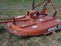 this mower is very heavy duty made and is like new only