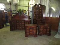 This is a great 5 pc cherry bedroom set. It includes a