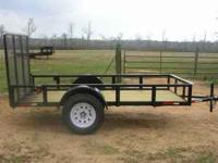 5'X10' Utility Trailer 4ft square tube gate,treated