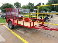 5 x 10 Utility Trailer, Powder Coated Orange, Red & &