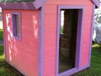 5ft by 5ft x 7ft tall wooden outside playhouse Made