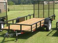 5ft x 12ft Utility Trailer NEW all weld A-Frame 3