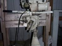 THIS 5 HP CLINTON OUTBOARD MOTOR IS A 1968, IT RUNS