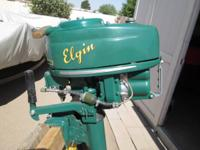 I have a 1950 Elgin Outboard motor for sale that has