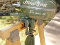 Late 40s-early 50s 5 hp Johnson Sea Horse outboard