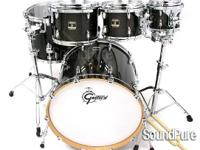 5pc Gretsch Renown Maple Drum Set Transparent Ebony