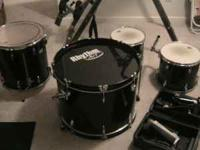 5 piece drum set with iron cobra pedal, rather new