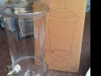 -5 qts (4.7 L) -Apothecary Glass (World Market) -7.8 in