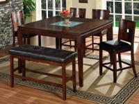 5th Ave Counter Height Dining Set *Made of solids and