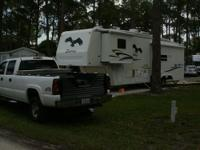 5th Wheel 34 foot RV. Pull out sleeper sofa,