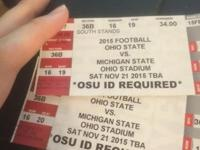 3 tickets to Rank 1 buckeyes vs Rank 3 MSU spartans at