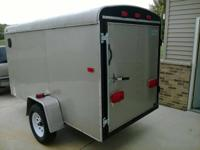 Clean 2008 5x10 Enclosed Trailer - Swing Door - EZ lube