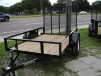 5x10 New Utility Trailer has powder coated framing and