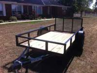 New heavy built 5x10 utility trailer with 3500lb DEXTER