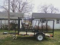 2012 - 5x10 Utility trailer with custom built removable