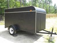 One of a kind custom 5x10 enclosed trailer, complete