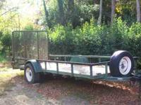 I have a green utility trailer for sale. It is 5x14.