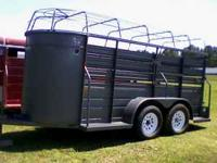 5x14 2001 model W&W bumper pull stock trailer. The