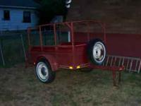 Good shape 5x6 trailer with wood floor. will trade for