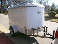 "5X8 ENCLOSED TRAILER - NO RUST , NO LEAKS, 15"" TIRES,"