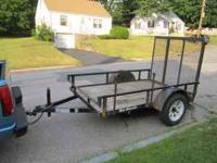 5X8 Mid Atlantic Trailer with full gate. 12 years old