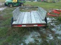 Well built, sturdy homemade trailer. 1 7/8 in ball. Too