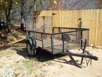 5x8 trailer with working lights and decent tires call