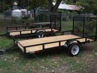 BRAND NEW!! 5x8 Single axle, 2000 pound utility