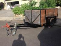 5x8 Utility Trailer New Safety Chains purchased last
