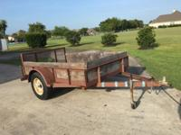 5x8 utility trailer. Wood deck. Only 500 miles since