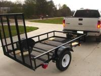 New utility with a ramp great for hauling ATV's or