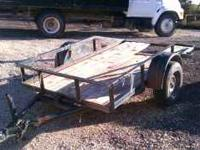 this is a heavy duty utility trailer, not one of the