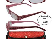 READERZ Women's High-Powered Reading Glasses: Red and