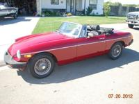 1974 1/2 MGB Roadster. This is a nice running little