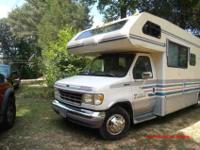 Ford 5.4 liter E 350 Four Winds Motorhome. It has