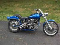 74 Harley FXE Superglide GROUND UP RESTORATION in 2010