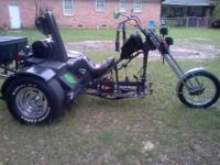 Custom built VW Trike, chopper style! Long twisted
