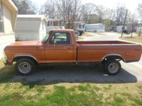 I HAVE A GREAT RUNNING 1978 FORD F-150 FOR SALEI LOVE