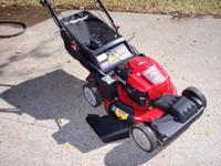 like new 6 1/2 hp troybuilt mower with electric