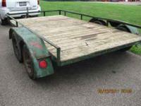 6 1/2 ft by 12ft trailer. Tandem Axles. Lights, brakes,
