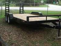 "Brand New! 6'10""x18' Equipment Trailer. 3 ton gvwr, 15"
