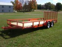 "This is a brand new 6'10""x20' double axle utility"