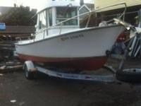 1983 SHAMROCK PILOTHOUSE 20'BOAT IS IN VERY GOOD