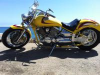 2002 YAMAHA V-STAR CUSTOM. COMPLETE CUSTOM BIKE, THIS